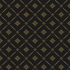 Decorative background in Royal style, dark color, seamless pattern. Repeating vintage pattern textures. Vector image