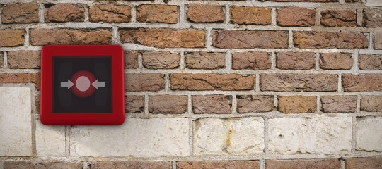 Composite image of fire alarm switch