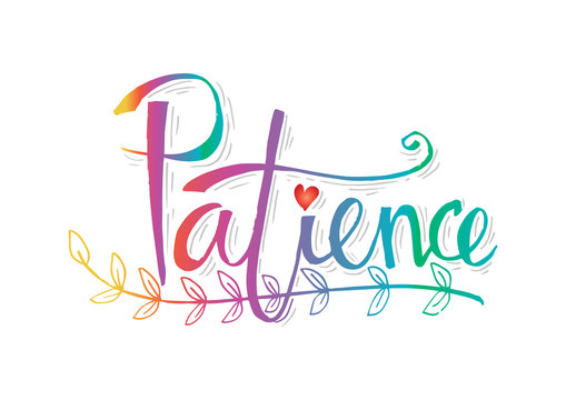 Patience lettering