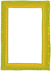 Golden doodle frame. A6, A5, A4, A3 vertical size.