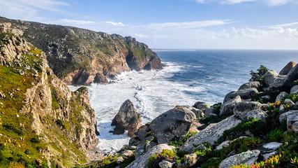 Cabo da Roca (Cape Roca), Portugal, the westernmost point of mainland Europe. Atlantic Ocean.