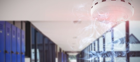 Composite image of fire and smoke detector
