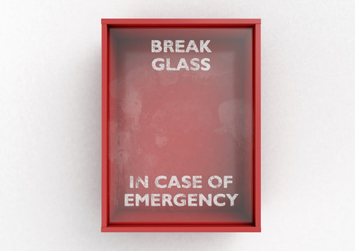 Break In Case Of Emergency Red Box