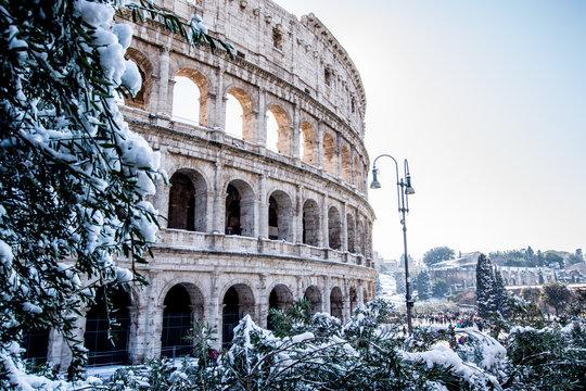 Colosseo innevato SimoneScibelli Fotografia