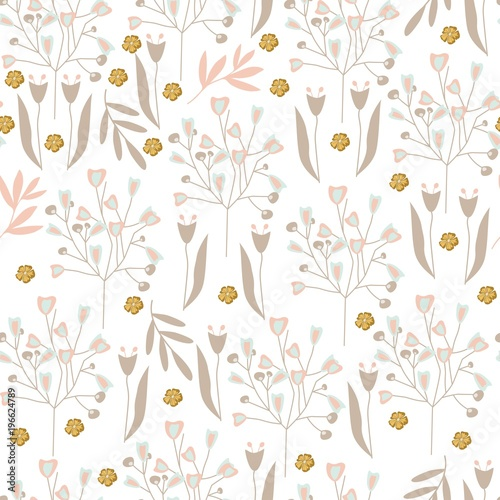 Vintage floral pattern cute pattern with simple flowers for textile vintage floral pattern cute pattern with simple flowers for textile packaging wallpaper voltagebd Gallery
