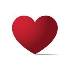 Heart love flat design icon vector illustration.