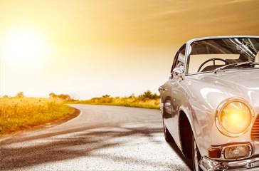 Summer car on road