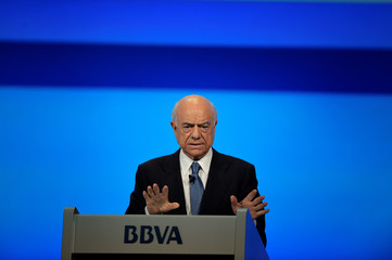 BBVA Chairman Francisco Gonzalez addresses the Annual General Meeting of Shareholders in Bilbao