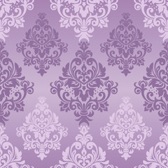 Seamless pattern with damask ornament. Vector Illustration. Classic vintage pattern