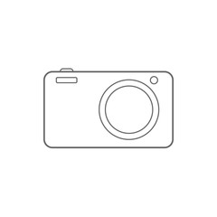 Digital photo camera icon. Vector.
