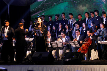 Halabja Opera band performs in memory of the victims of the 1988 chemical attack in the Kurdish town of Halabja, near Sulaymaniyah
