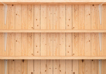 wooden shelf background for product display
