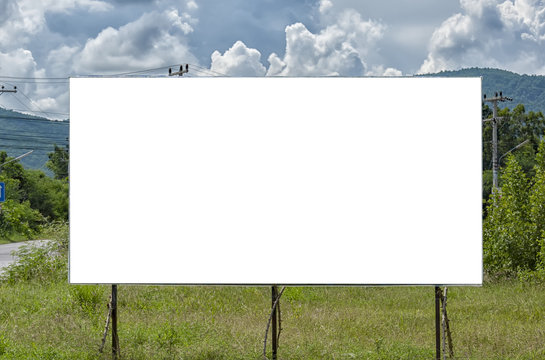 Rural Blank Billboard
