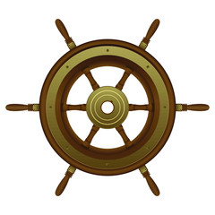 Rudder vector design illustration