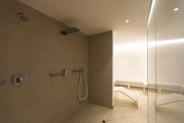Spa shower at a private residence