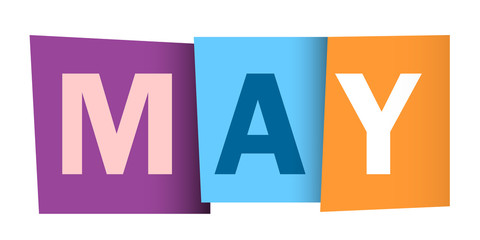 """MAY"" Vector Letters Icon"