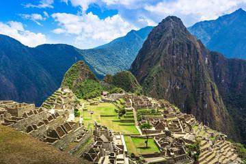 Macchu Picchu old town on sunny day