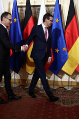 Poland's Prime MInister Morawiecki meets with German Foreign Minister Maas during his visit in Warsaw