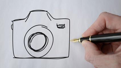 appareil photo picto stylo plume
