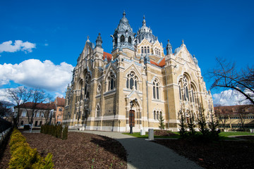 Exterior of jewish Szeged synagogue in Szeged city, Hungary