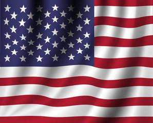 Vector realistic american flag