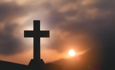 Crucifixion Of Jesus Christ - Cross At Sunset