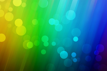 Rainbow background with bubbles
