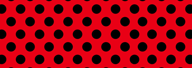 Red and Black Dot Background