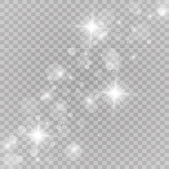 Vector illustration of abstract flare light rays. Glow light effect. Vector illustration. Christmas flash Concept.