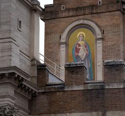 Marienbild an der Porta Pia