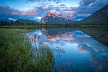 Sunset on Banff Lake