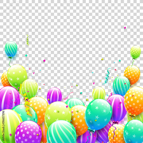 Birthday Balloons Template Stock Image And Royalty Free Vector