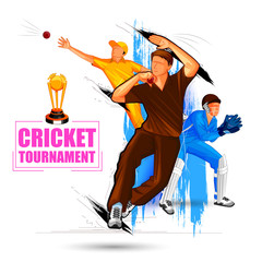 Sports background for the match of Cricket Championship Tournament