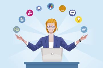 Technology Expert Business Woman