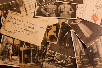old photoes and postcards (about 1940-1945)