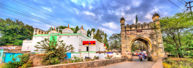 Jamil Baig Masjid Mosque and Mahmud Darwaza Gate in Aurangabad, India