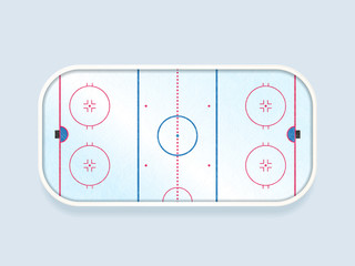 Ice hockey ring international size vector illustration