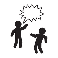 Person yelling and quarreling vector icon. Vector.