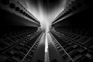 Deux très hautes tours  à Hong Kong