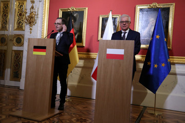 Poland's Foreign Minister Czaputowiczmeets with German Foreign Minister Maas during his visit in Warsaw