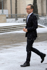 German Foreign Minister Maas during his visit in Warsaw