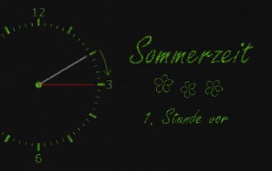 Die Uhrzeit wird umgestellt - sommerzeit winterzeit