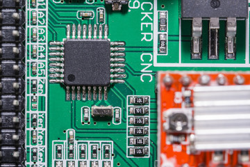 Processor on printed circuit board.