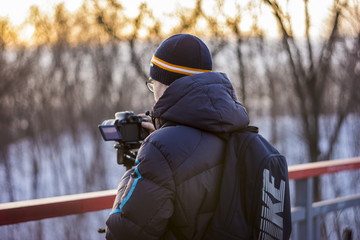 cameraman make photo