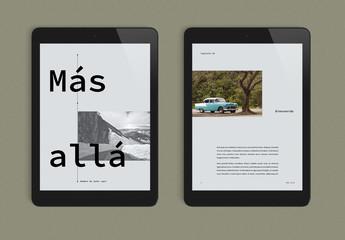 Diseño de eBook atractivo de colores calmados