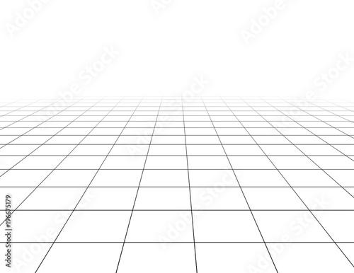 Blank tiled white floor 3d template background.\