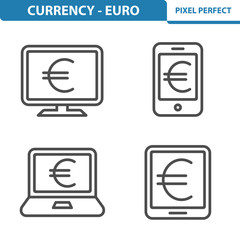 Euro Icons. Professional,pixel perfect icons depicting various Euro Currency concepts. EPS8 format.