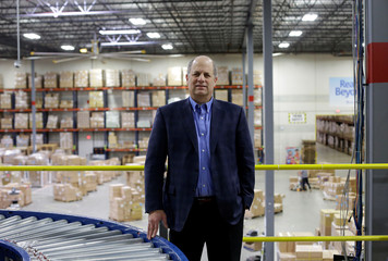Toys 'R' Us vendor Learning Resources CEO Richard Woldenberg poses for a photo at the warehouse in Vernon Hills