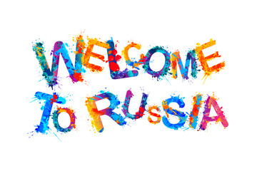 Welcome to Russia. Ssplash paint letters
