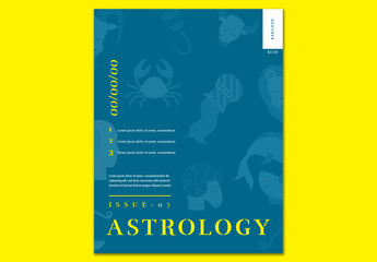 Astrological Magazine Cover Layout 1
